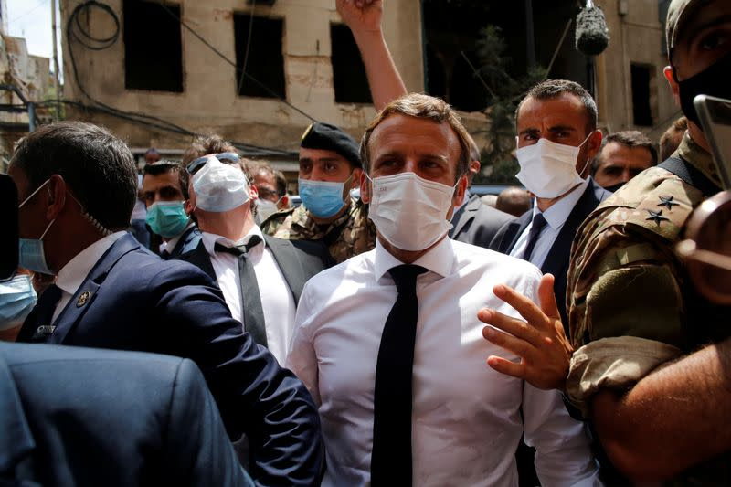 """Macron promises angry Beirut crowds aid won't go to """"corrupt hands"""""""