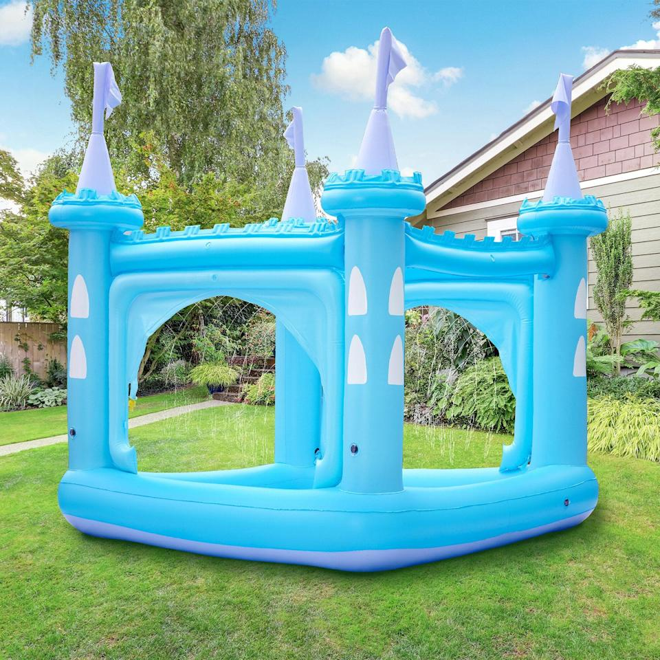 """<p>Your kids will think they're royalty inside this <a href=""""https://www.popsugar.com/buy/Water-Fun-Castle-Inflatable-Kiddie-Pool-572405?p_name=Water%20Fun%20Castle%20Inflatable%20Kiddie%20Pool&retailer=wayfair.com&pid=572405&price=140&evar1=moms%3Aus&evar9=46219004&evar98=https%3A%2F%2Fwww.popsugar.com%2Fphoto-gallery%2F46219004%2Fimage%2F47457518%2FWater-Fun-Castle-Inflatable-Kiddie-Pool&list1=shopping%2Cpools%2Csummer%2Ckid%20shopping&prop13=api&pdata=1"""" class=""""link rapid-noclick-resp"""" rel=""""nofollow noopener"""" target=""""_blank"""" data-ylk=""""slk:Water Fun Castle Inflatable Kiddie Pool"""">Water Fun Castle Inflatable Kiddie Pool </a> ($140) - back in stock on June 7! </p>"""
