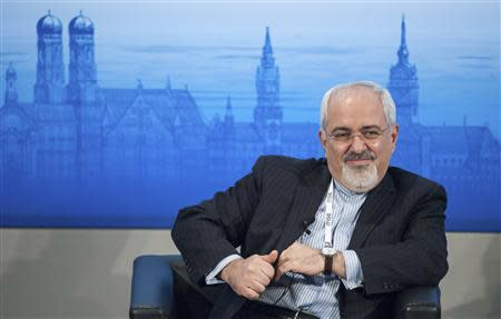 Iran's Foreign Minister Mohammad Javad Zarif attends the annual Munich Security Conference February 2, 2014. REUTERS/Lukas Barth