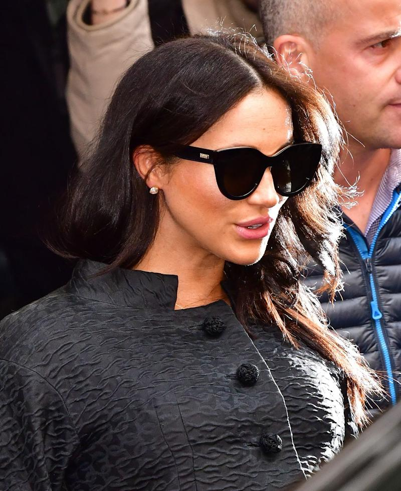 48c007a5b87 Meghan Markle Wore  70 Le Specs Sunglasses for Her NYC Baby Shower