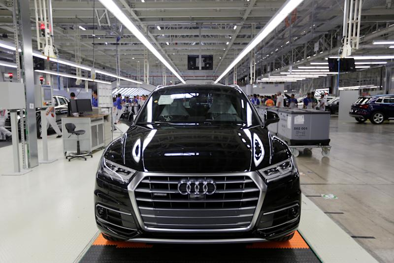 2016 Audi Q5 2.0 is pictured during the opening of a new plant in San Jose Chiapa