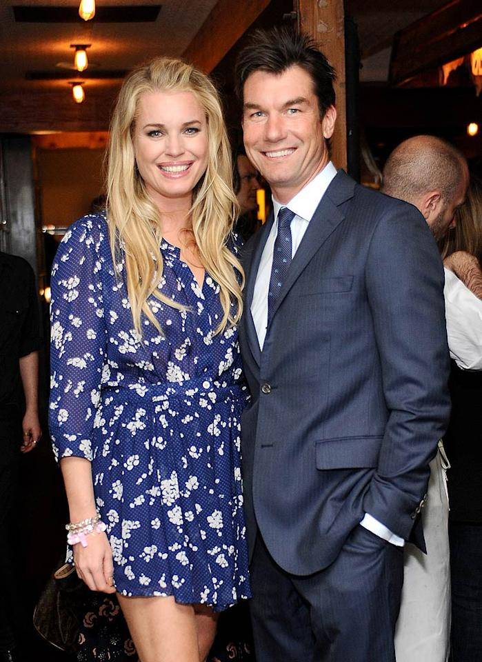"Rebecca Romijn and Jerry O'Connell left their twin toddlers at home to attend the launch party for online stylist service JustFabulous at West Hollywood eatery Eveleigh on Tuesday night. Stefanie Keenan/<a href=""http://www.wireimage.com"" target=""new"">WireImage.com</a> - April 5, 2011"
