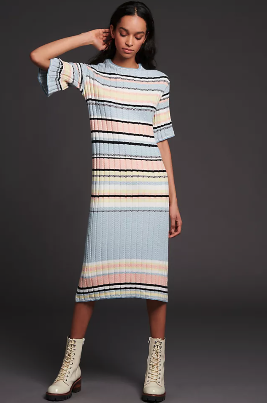 Roberta Maxi Sweater Dress. Image via Anthropologie.