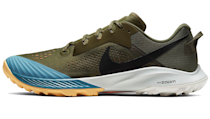 """<p><a class=""""link rapid-noclick-resp"""" href=""""https://go.redirectingat.com?id=127X1599956&url=https%3A%2F%2Fwww.nike.com%2Fgb%2Ft%2Fair-zoom-terra-kiger-6-trail-running-shoe-dSMbkN%2FCJ0219-400&sref=https%3A%2F%2Fwww.esquire.com%2Fuk%2Fstyle%2Fshoes%2Fg24739613%2Fbest-mens-running-shoes%2F"""" rel=""""nofollow noopener"""" target=""""_blank"""" data-ylk=""""slk:SHOP"""">SHOP</a></p><p>Built for wet and rocky trails, the Nike Air Zoom Terra Kiger 6 trainers are as lightweight, sleek and form-fitting as they look. For that reason they lack somewhat in terms of protection when compared to other trail shoes, but they make up for it in stability and comfort, and they offer a surprising level of spring too. The olive and cerulean colourway is our favourite, but we have to give credit to the mint version's Nike swoosh, which looks like it's been designed with candy sprinkles. They come in at a pretty fair price-point, too. We're big fans.</p><p>Air Zoom Terra Kiger 6, £114.95, <a href=""""https://www.nike.com/gb/t/air-zoom-terra-kiger-6-trail-running-shoe-dSMbkN/CJ0219-400"""" rel=""""nofollow noopener"""" target=""""_blank"""" data-ylk=""""slk:nike.com"""" class=""""link rapid-noclick-resp"""">nike.com</a></p>"""