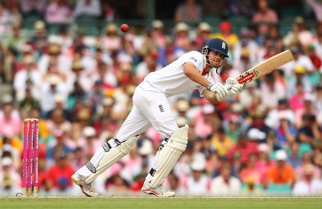SYDNEY, AUSTRALIA - JANUARY 05:  Alastair Cook of England bats during day three of the Fifth Ashes Test match between Australia and England at Sydney Cricket Ground on January 5, 2011 in Sydney, Australia.  (Photo by Mark Nolan/Getty Images)