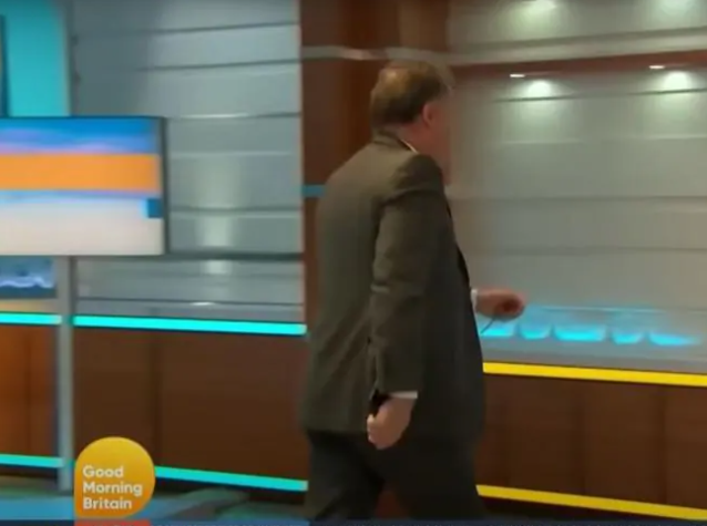 Piers stormed off set and later resigned over a spat over Meghan and Harry's Oprah interview. Photo: Good Morning Britain/ITV.