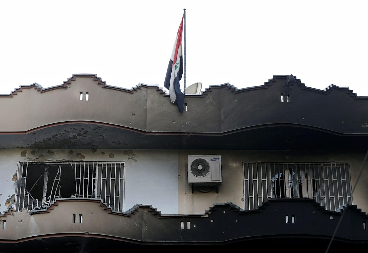 <p>Damaged building of the Iraqi embassy is seen after an attack in Kabul, Afghanistan July 31, 2017. (Mohammad Ismail/Reuters) </p>