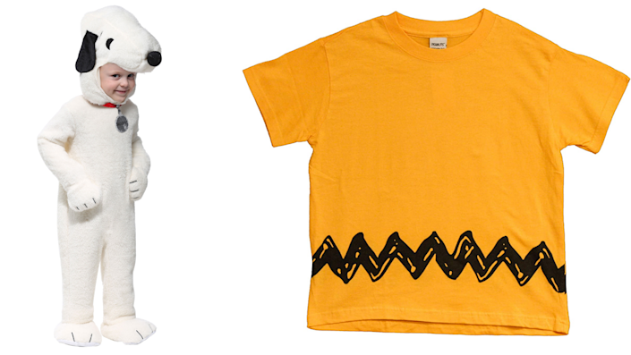 Sibling Halloween costumes: Snoopy and Charlie Brown