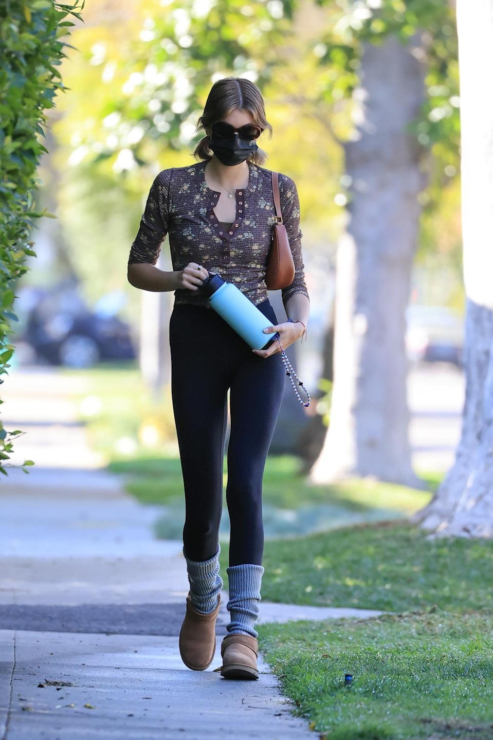 A hydro flask and UGGs is really all she needs.