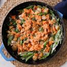 <p>Tender cauliflower gnocchi combine with a quick cream sauce, tender peas and flaky salmon for an unforgettable weeknight dinner. This one is so good you might make it for special occasions. If you don't like smoked salmon, use fresh.</p>