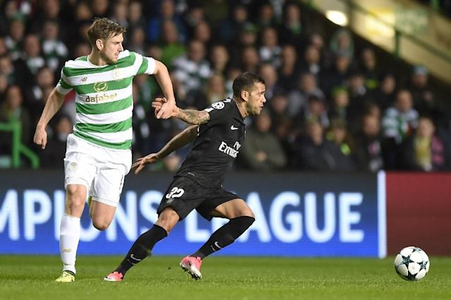 Celtic's Scottish midfielder Stuart Armstrong (left) has been signed by Southampton on a four-year deal (AFP Photo/Andy BUCHANAN)