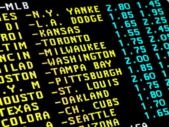 Sports betting screen
