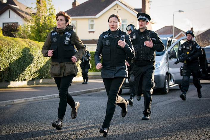 DI Kate Fleming (Vicky McClure) and DCI Joanne Davidson (Kelly Macdonald) in 'Line of Duty'. (Credit: Steffan Hill/World Productions/BBC)