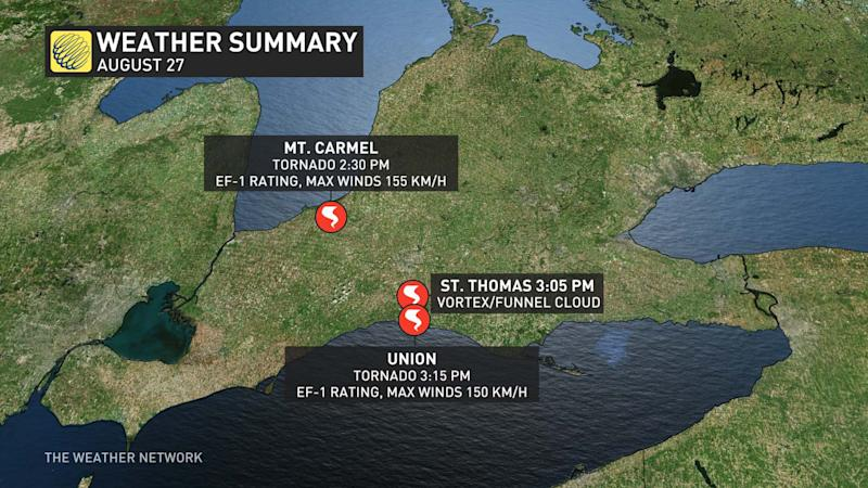 Aug. 27 Ontario tornado summary
