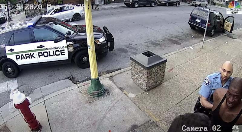 George Floyd Arrest Minneapolis Police Surveillance Video NBC You Tube