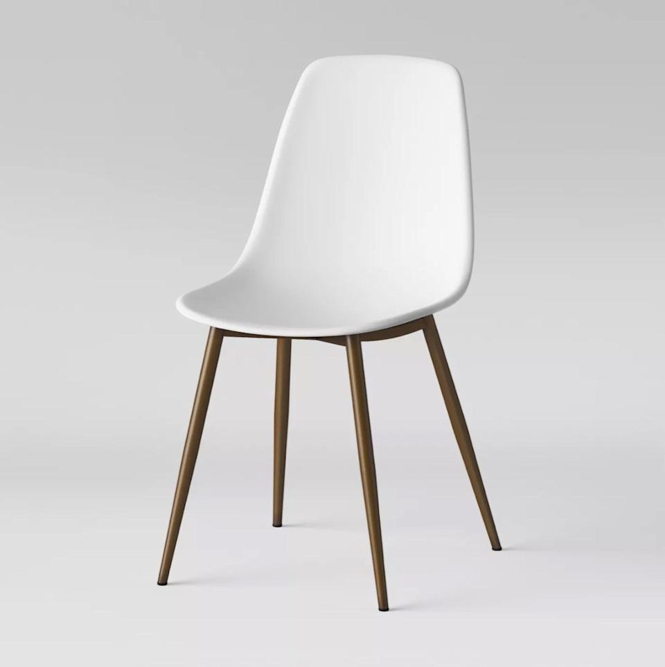 white plastic dining room chair, target home decor items