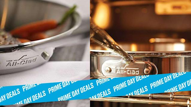 Photo Illustration by Elizabeth Brockway/The Daily Beast * Get 30% off four different top-rated All-Clad cooking sets * Stainless steel, hard-anodized construction, dishwasher safe, easy-to-clean * Shop the rest of our other Prime Day deal picks here. Not a Prime member yet? Sign up here.When we see deals on brands like All-Clad that get more than $100 off cookware sets with high ratings, we know it's a good deal. Whether you want a 2-piece set to upgrade your saut pans or an 8-piece set to upgrade your entire cookware collection, this Prime Day deal wants to have a word. | Shop on Amazon > Let Scouted guide you to the best Prime Day deals. Shop Here >Scouted is internet shopping with a pulse. Follow us on Twitter and sign up for our newsletter for even more recommendations and exclusive content. Please note that if you buy something featured in one of our posts, The Daily Beast may collect a share of sales.Read more at The Daily Beast.Got a tip? Send it to The Daily Beast hereGet our top stories in your inbox every day. Sign up now!Daily Beast Membership: Beast Inside goes deeper on the stories that matter to you. Learn more.