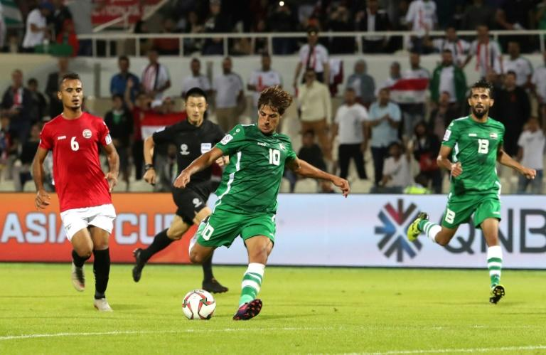 Teenager Mohanad Ali had an impressive game for Iraq