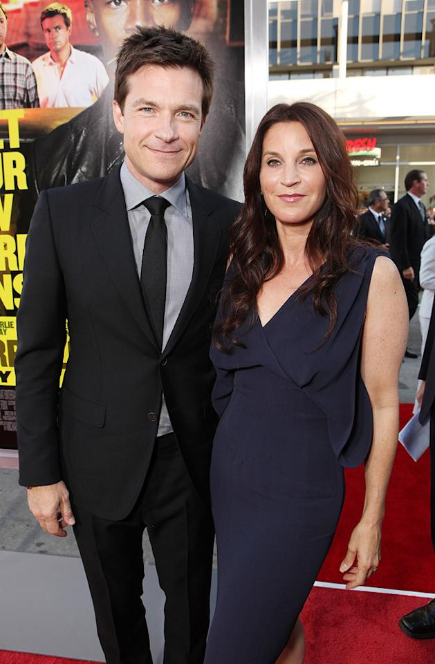 """<a href=""""http://movies.yahoo.com/movie/contributor/1800019148"""">Jason Bateman</a> and <a href=""""http://movies.yahoo.com/movie/contributor/1800020936"""">Amanda Anka</a> at the Los Angeles premiere of <a href=""""http://movies.yahoo.com/movie/1810161382/info"""">Horrible Bosses</a> on June 30, 2011."""