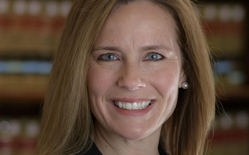 Amy Coney Barrett, at 46, would also become the youngest justices of the highest court in the land if named and confirmed - AFP