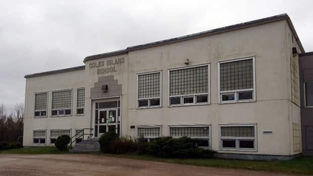 Coles Island School was a K-5 before it was closed down and purchased by Jeremy Barton to be used as a medical cannabis grow operation. (Catherine Harrop/CBC - image credit)