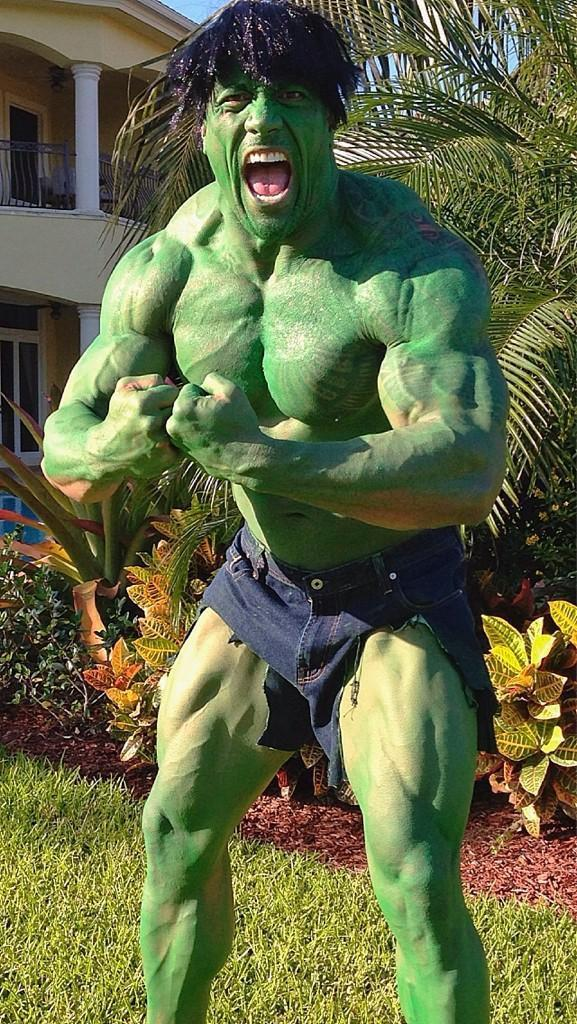 """<p>Since he already had half the costume (those insane muscles!), the Rock decided to go as the Hulk for Halloween. He tweeted out """"Don't make angry. You wouldn't like me when I'm angry"""". <i>(<a href=""""https://twitter.com/therock/status/263760955010330624"""" rel=""""nofollow noopener"""" target=""""_blank"""" data-ylk=""""slk:Photo: @TheRock/Twitter)"""" class=""""link rapid-noclick-resp"""">Photo: @TheRock/Twitter) </a></i></p>"""