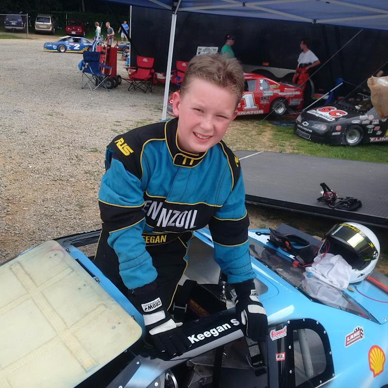 Keegan Sobilo started racing at age 8, and four years later, he moves from minicars into a full-size race car. He has won multiple championships.