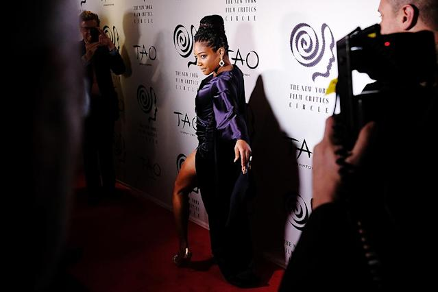 "<p>The comedian showed some major leg on the red carpet of the New York Film Critics Circle Awards in New York on Wednesday before accepting the award for Best Supporting Actress in <em>Girls Trip. </em>Haddish wowed the crowd with a hilarious and gracious acceptance speech. ""When I work with people, I work with everybody from the person that's working the camera, the person that's putting the clothes on me, the person that combs my hair,"" she said. ""Because all of y'all make my dreams come true."" (Photo: Nicholas Hunt/Getty Images) </p>"