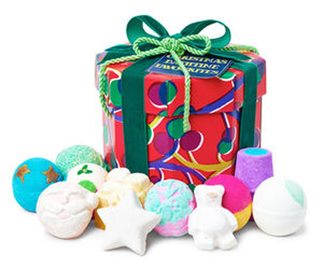 """<p>If you're looking for her over the holiday break, she'll be in the tub. Lush's collection of 11 favorite festive bathbombs are a foolproof way to soak the school stress away. </p> <p>$86 