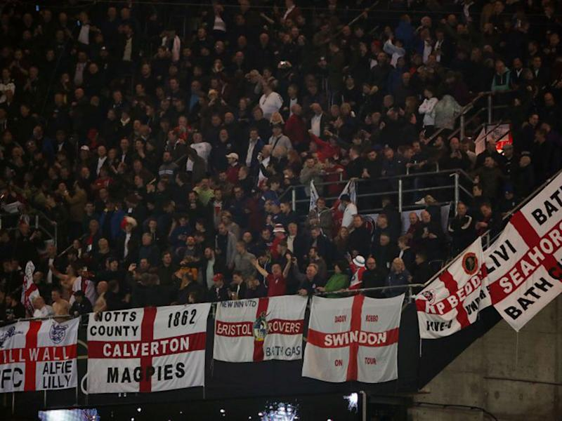 England fans chanted disgraceful songs aimed at Germany supporters: PA