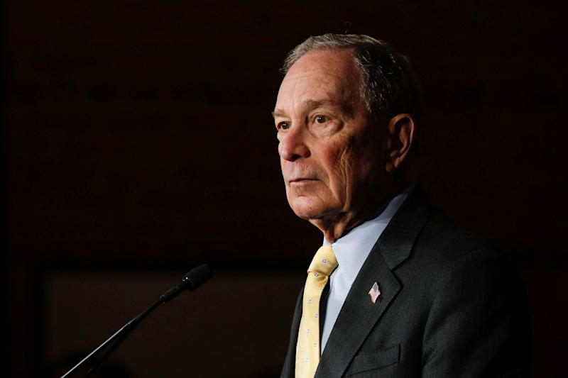 Michael Bloomberg, not so long ago a Republican, makes his debut on the debate stage with other contenders for this year's Democratic presidential nomination Wednesday evening in Las Vegas. (Photo: Bill Pugliano via Getty Images)