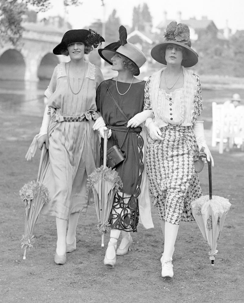 Female race-goers photographed at the annual event in 1921 [Photo: Getty]
