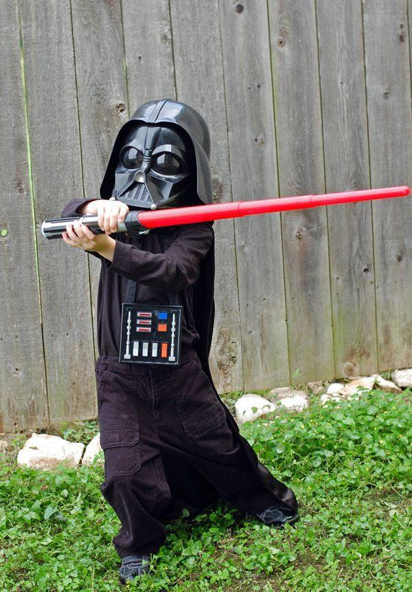"""<p>He'll love proclaiming """"Luke, I am your father,"""" and waving around his lightsaber.</p><p><strong>Get the tutorial at <a href=""""https://thenestingspot.com/2012/10/19/halloween-costumes-2012/"""" rel=""""nofollow noopener"""" target=""""_blank"""" data-ylk=""""slk:The Nesting Spot"""" class=""""link rapid-noclick-resp"""">The Nesting Spot</a>.</strong></p><p><strong><a class=""""link rapid-noclick-resp"""" href=""""https://www.amazon.com/Ben-Textiles-Inc-Polyester-Lining/dp/B00MEWU6DS/?tag=syn-yahoo-20&ascsubtag=%5Bartid%7C10050.g.21287723%5Bsrc%7Cyahoo-us"""" rel=""""nofollow noopener"""" target=""""_blank"""" data-ylk=""""slk:SHOP POLYESTER FABRIC"""">SHOP POLYESTER FABRIC</a></strong></p>"""