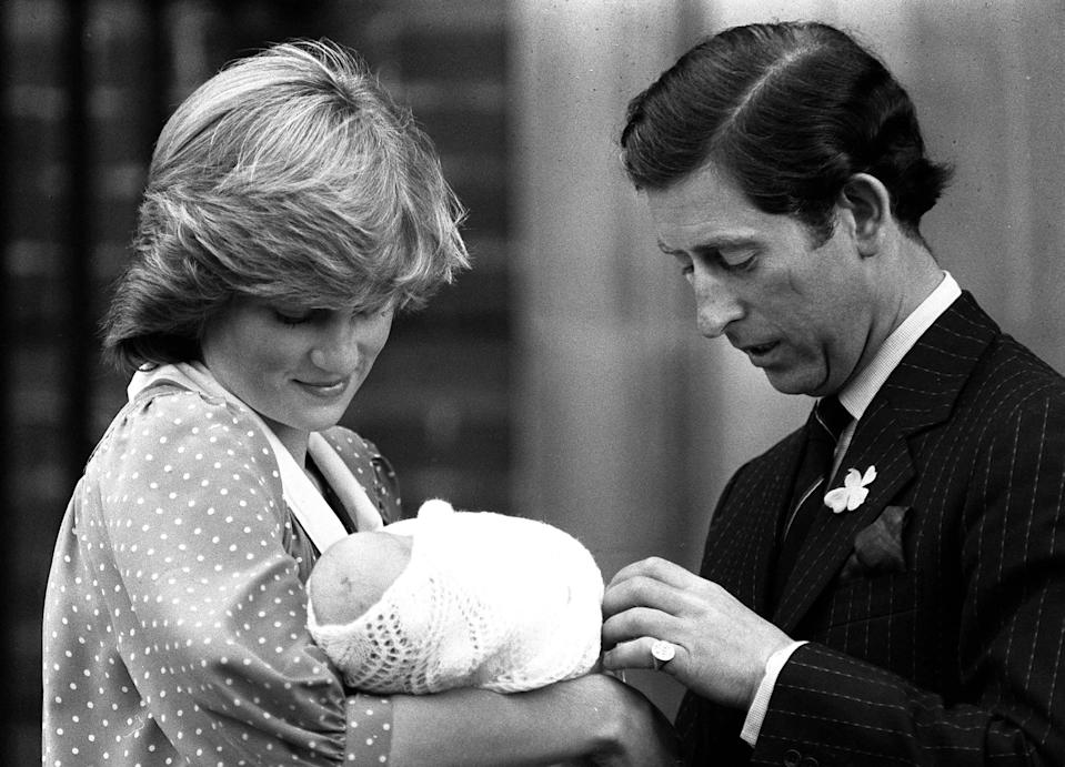 Library filer dated 22.6.82, of the Prince and Princess of Wales showing off their son, Prince William, to the media for the first time. It was reported today (Sunday) that the princess has been killed in a car crash in Paris. Photo by Tim Ockenden/PA. **Available b/w only** Reissued again 19/06/98 for Prince William's 16th birthday on 21/06/98.   (Photo by Tim Ockenden - PA Images/PA Images via Getty Images)