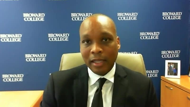 Broward College President Gregory Haile, a director at the Atlanta Fed, speaks with Reuters by Zoom