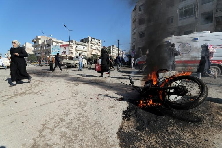 Aid groups have condemned a UN vote scaling down cross-border aid to northwestern Syria particularly as bombardment on the region continues (AFP Photo/Omar HAJ KADOUR)