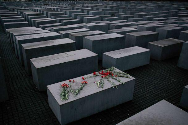 PHOTO: Flowers lay on a concrete slab of the Holocaust Memorial to mark the International Holocaust Remembrance Day in Berlin, Jan. 27, 2015. (Markus Schreiber/AP, FILE)
