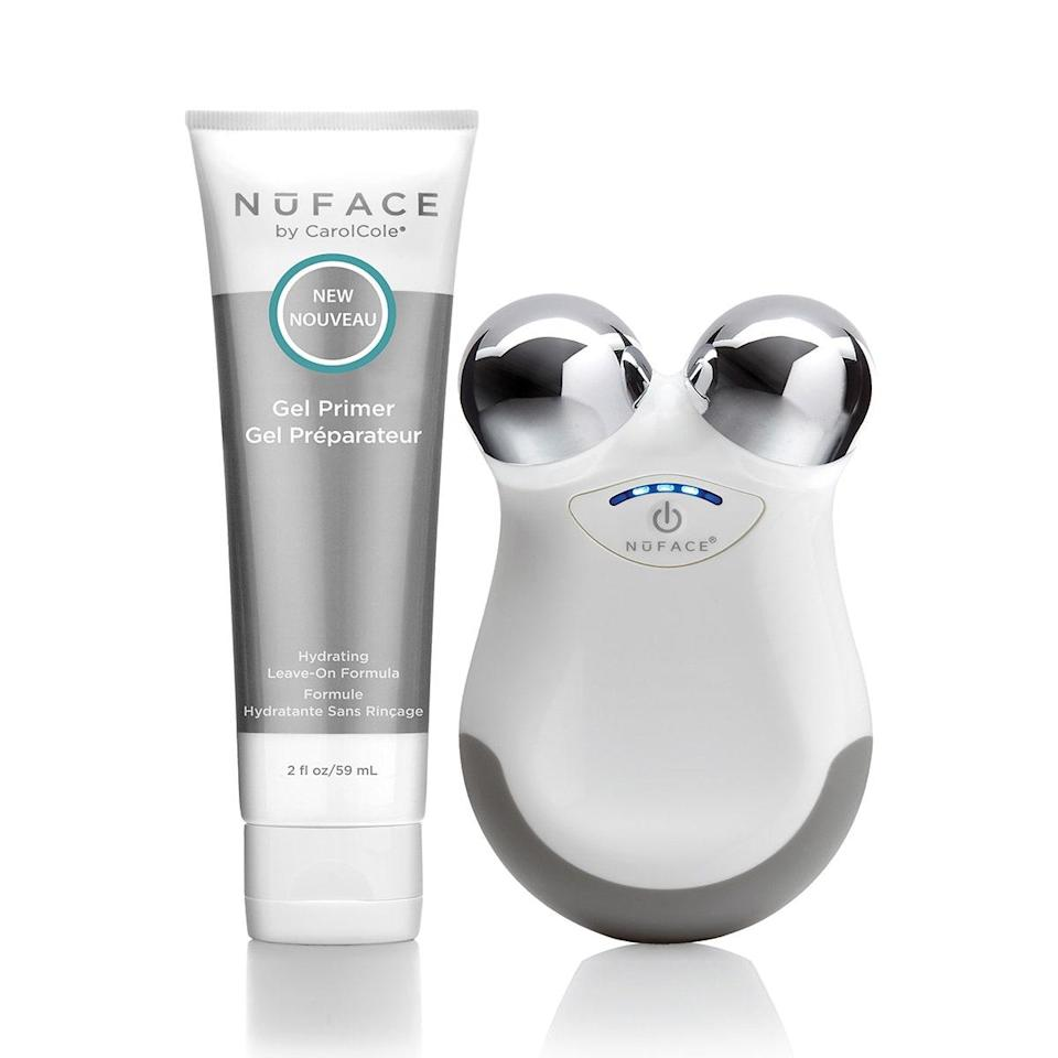 """Shopping for a skin-care obsessive who's pushing 30? They can take their routine up a notch with this <a href=""""https://www.glamour.com/story/nuface-mini-review?mbid=synd_yahoo_rss"""" rel=""""nofollow noopener"""" target=""""_blank"""" data-ylk=""""slk:game-changing device"""" class=""""link rapid-noclick-resp"""">game-changing device</a> that glides across the face to contour, even out skin tone, and decrease fine lines using microcurrent technology. $199, NuFace. <a href=""""https://shop-links.co/1706124696586936706"""" rel=""""nofollow noopener"""" target=""""_blank"""" data-ylk=""""slk:Get it now!"""" class=""""link rapid-noclick-resp"""">Get it now!</a>"""