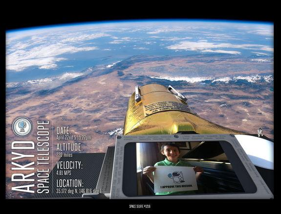 """Planetary Resources' crowdfunded telescope will have a camera that can take photos of the spacecraft next to user-submitted pictures, enabling what the company calls the first """"space selfies."""""""