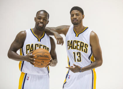 Can Rodney Stuckey (left) pick up some of the absent George's scoring slack? (Trevor Ruszkowski-USA TODAY Sports)