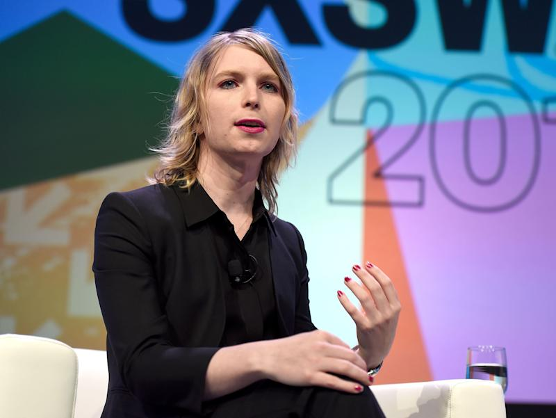 Chelsea Manning appeared last week at the annual conference in Austin, Texas.