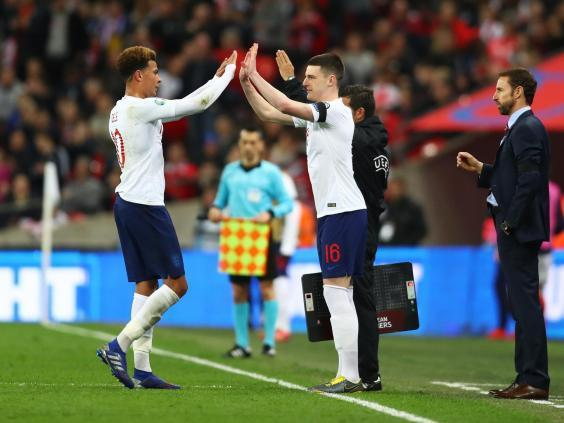 Declan Rice could make his first start for England (Getty)