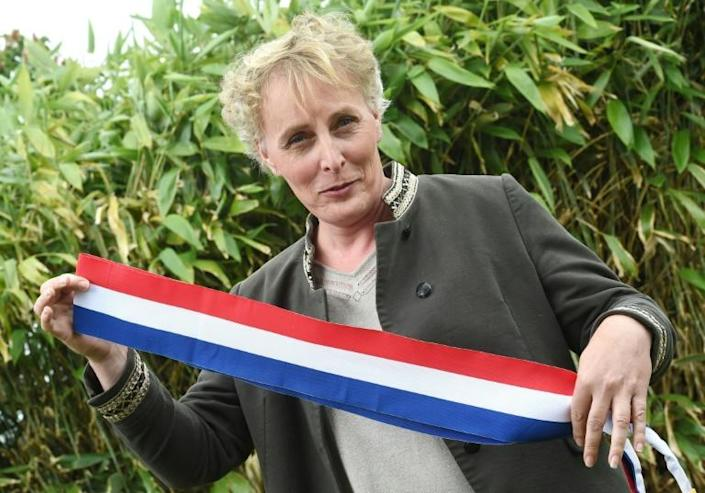 Marie Cau has become the first transgender mayor in French history (AFP Photo/FRANCOIS LO PRESTI)