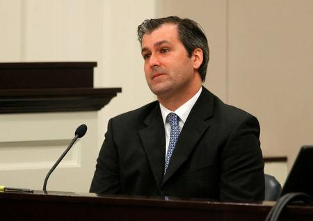 FILE PHOTO: Former North Charleston police officer Michael Slager looks on during testimony in his murder trial at the Charleston County court in Charleston, South Carolina, U.S. November 29, 2016.  REUTERS/Grace Beahm/Post and Courier/Pool/File Photo