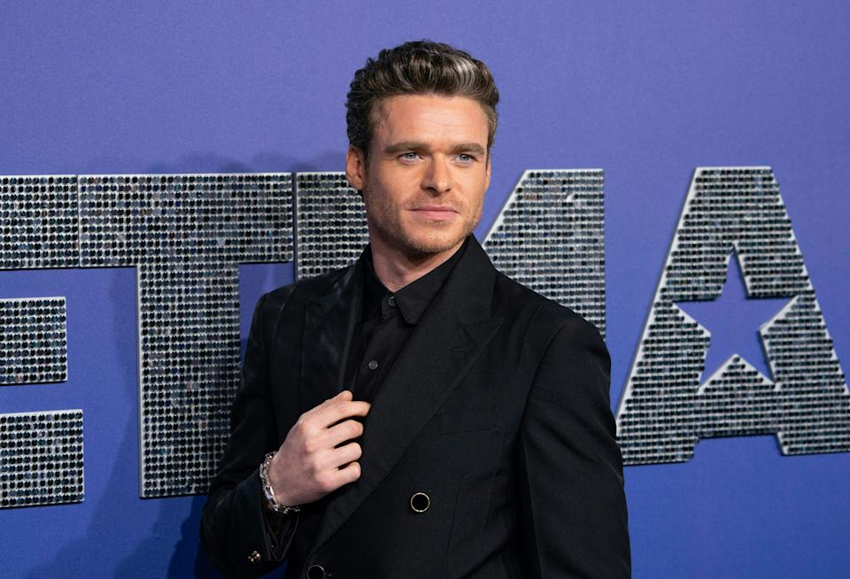 """Richard Madden attends the US premiere of """"Rocketman"""" on May 29, 2019. (Photo by Don Emmert/AFP via Getty Images)"""