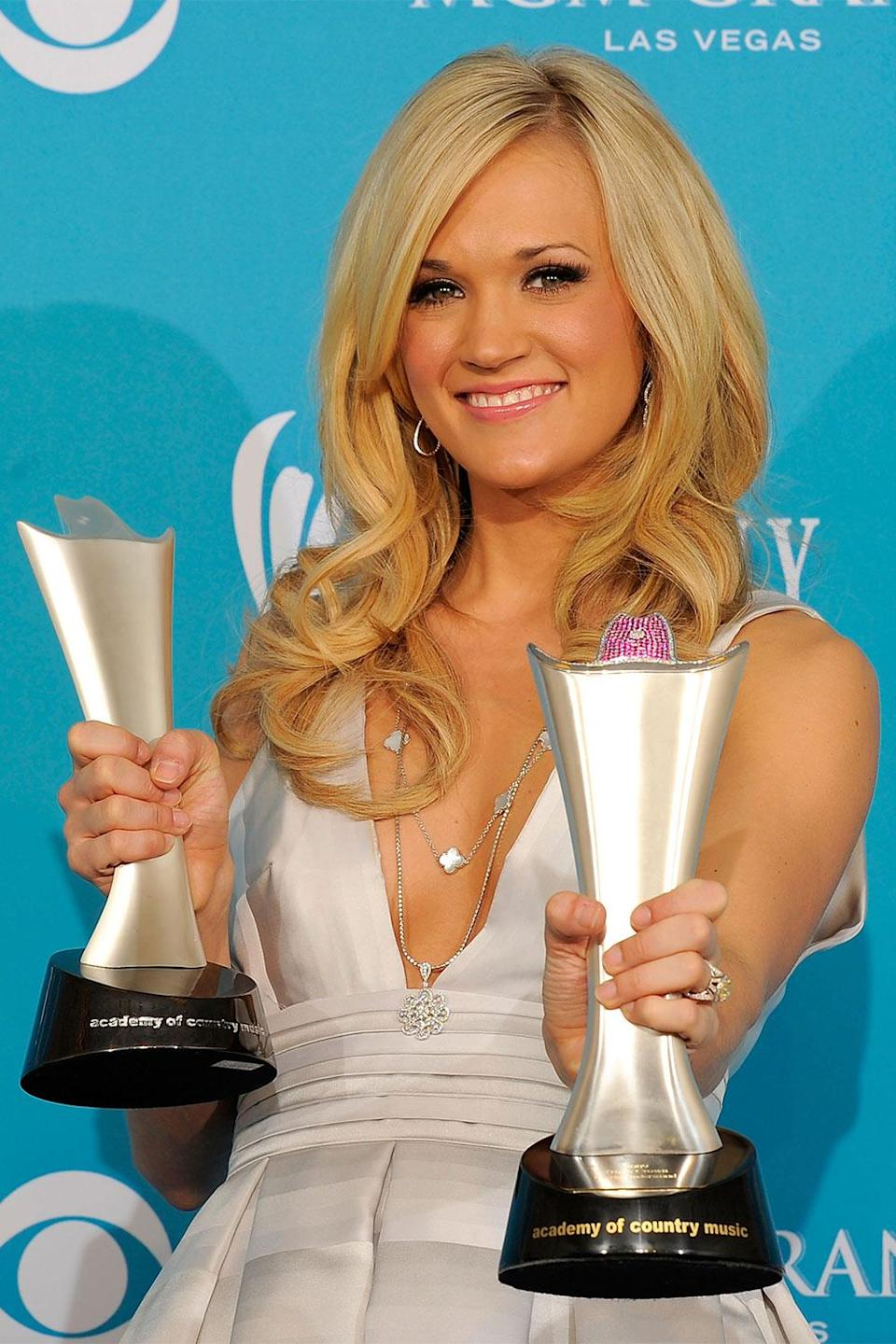 <p>She impressively went back-to-back, rising to the top of a packed field that included seven other nominees: Zac Brown Band, Kenny Chesney, Toby Keith, Brad Paisley, George Strait, Taylor Swift and Keith Urban.</p>