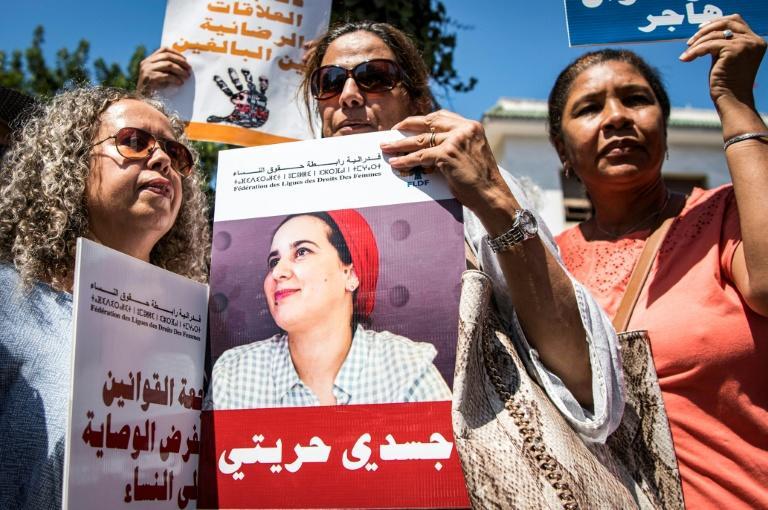 Rassiouni's arrest and sentencing provoked a storm of protest among human rights defenders (AFP Photo/FADEL SENNA)