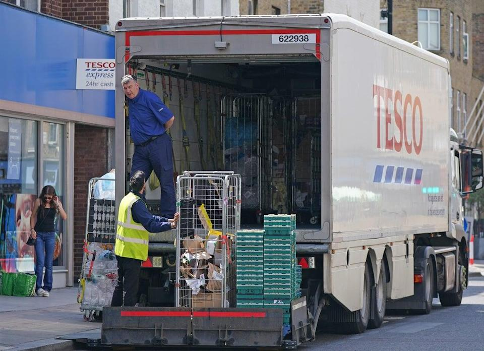 Supermarket Tesco is also offering lorry drivers a £1,000 joining bonus (Yui Mok, PA) (PA Wire)