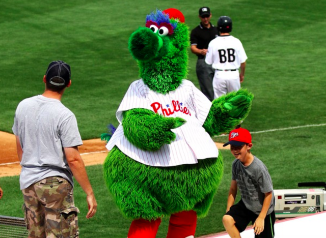 Phillie Phanatic is trouble. (Image: Pixabay)