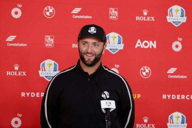 No. 1: Europe's Jon Rahm meets the press ahead of the 43rd Ryder Cup golf matches at Whistling Straits (AFP/Warren Little)